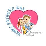 Pai e filha no fundo do dia de pai Imagens de Stock
