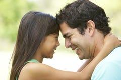 Pai e filha no parque Fotografia de Stock