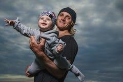 Pai e filha pequena imagem de stock royalty free