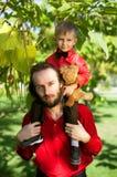 Pai e filho Foto de Stock