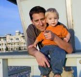 Pai e filho 2 imagem de stock