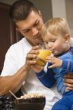 Pai e filho. Imagens de Stock Royalty Free