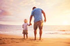 Pai e filho Fotos de Stock