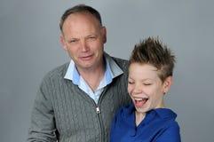 Pai e filho fotografia de stock royalty free