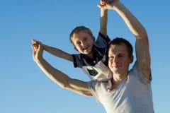 Pai e filho. Fotos de Stock Royalty Free