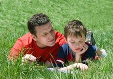 Pai e filho Imagem de Stock
