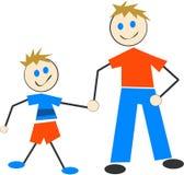 Pai e filho Imagem de Stock Royalty Free