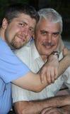 Pai e filho ao ar livre Imagens de Stock Royalty Free