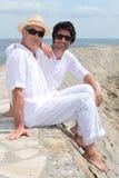 Pai e filho do adulto imagens de stock