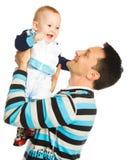 Pai e filho felizes Fotografia de Stock Royalty Free