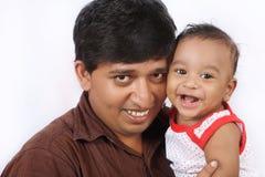 Pai e filho indianos foto de stock