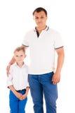 Pai e filho novos Imagens de Stock