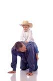 Pai e filho Fotografia de Stock