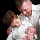 Pai e filhos Fotografia de Stock