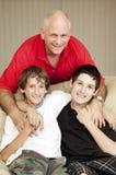 Pai e filhos Foto de Stock Royalty Free