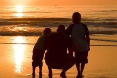 Pai e filhos Fotos de Stock Royalty Free