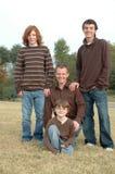 Pai e filhos imagem de stock