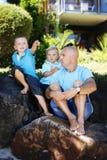 Pai e filhos Imagens de Stock Royalty Free