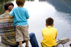 Pai e filhos junto Imagem de Stock Royalty Free