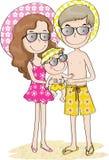 Pai e mãe e filho Fotos de Stock Royalty Free