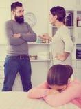 Pai e mãe que discutem Imagem de Stock