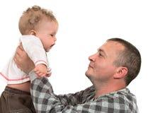 Pai e o filho Fotos de Stock Royalty Free