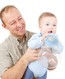 Pai e seu bebê Fotografia de Stock