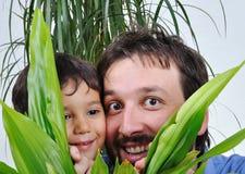 Pai e seu filho Imagens de Stock Royalty Free