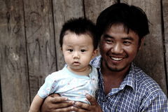 Pai e seu filho Imagem de Stock Royalty Free