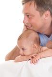 Pai e sua filha fotografia de stock