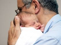 Pai e um bebê Imagem de Stock