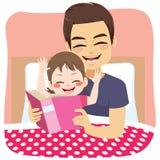 Pai Fairytale Daughter ilustração stock