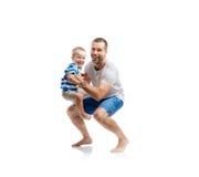Pai feliz com seu filho Imagem de Stock