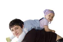 Pai feliz com uma filha imagem de stock royalty free