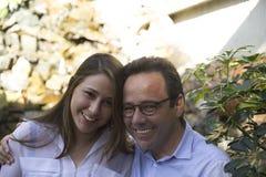 Pai feliz And Daughter Fotos de Stock