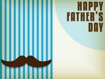 Pai feliz Day Mustache Love ilustração stock