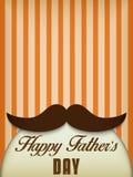 Pai feliz Day Mustache Love ilustração royalty free