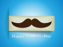 Pai feliz Day Mustache Tag ilustração do vetor