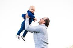 Pai feliz e sua filha Imagens de Stock Royalty Free
