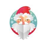 Pai Frost e Santa Claus do ano novo e do Natal do feriado ilustração royalty free