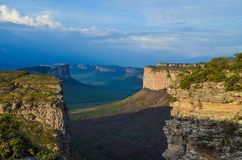 Pai Inácio mountain. View of mountains in Chapada Diamantina national park, Brazil. This place call Morro do Pai Inacio and to be a high point of this park royalty free stock photography