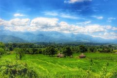 Pai-Landschaft - Thailand lizenzfreie stockfotos