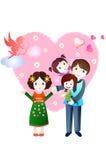 Pai Loving ilustração royalty free