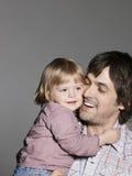Pai loving Carrying Daughter Fotografia de Stock