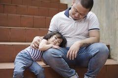 Pai loving com filha Fotografia de Stock