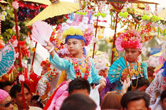Pai Maehongson Thailand. Poi Sang Long Festival. 3 Apirl 2016 Royalty Free Stock Images