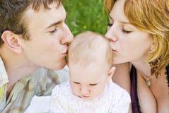 Pai, matriz e bebê Imagem de Stock