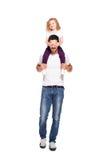 Pai novo com sua filha Foto de Stock Royalty Free