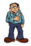 Pai ou saliência do desenho dos desenhos animados Fotografia de Stock Royalty Free