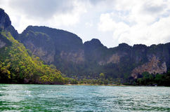 Pai Plong plaża między Ao Nang i Railay, Zdjęcia Royalty Free